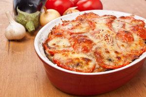 Vegetarische Lasagne mit Auberginen ohne Kohlenhydrate – glutenfrei