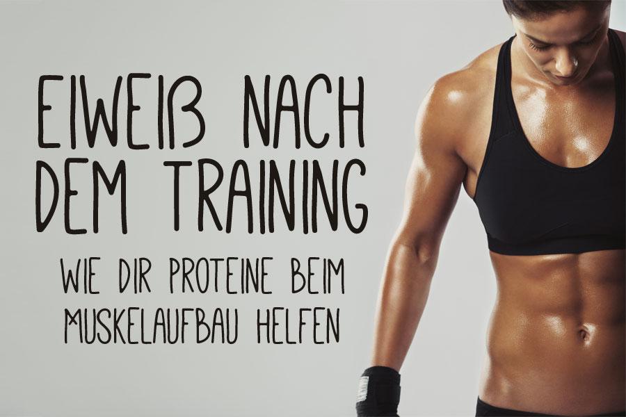 Eiweiß nach dem Training - warum Proteine wichtig sind