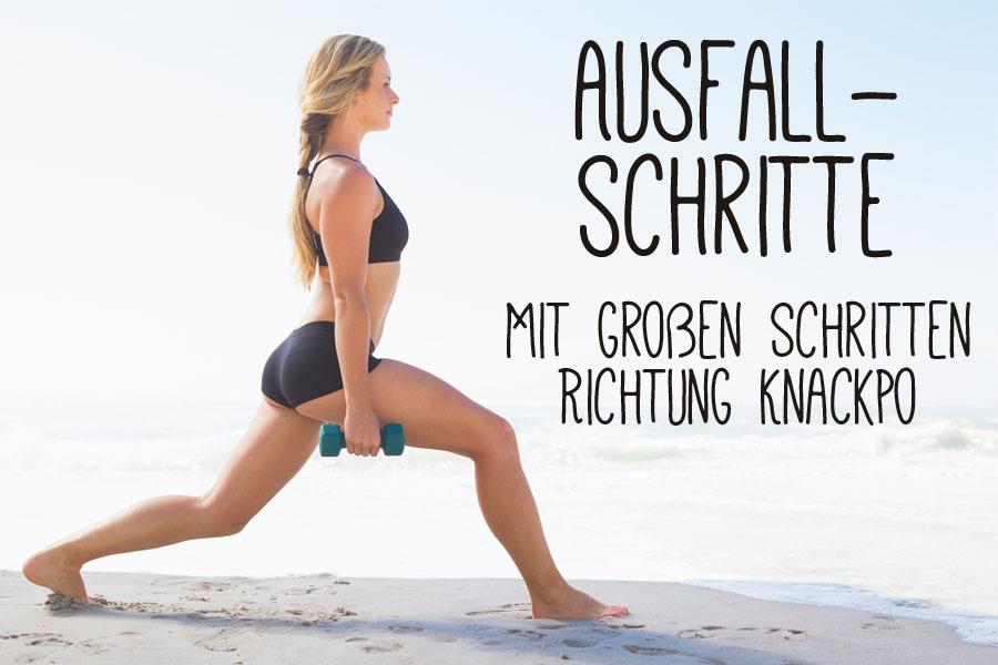 Ausfallschritte - Bodyweight Training für knackigen Hintern