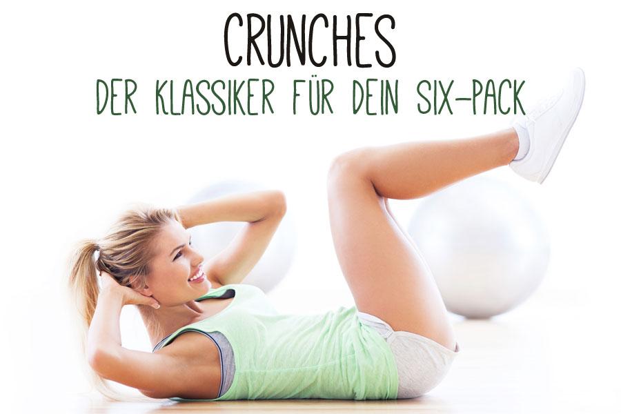 Crunches gehören zu den klassischen Bauchmuskelübungen für ein starkes Six-Pack