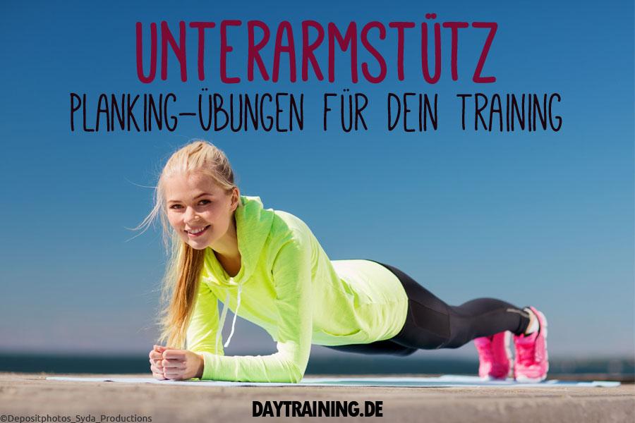 Der Unterarmstütz - oder auch Plank genannt - ist eine statische Übung, die deine Bauchmuskulatur trainiert und leicht durchzuführen ist