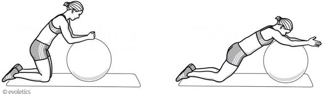 Gymnastikball-Übung - Ballroller
