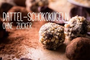 Dattel-Schokokugeln ohne Zucker – Rohkost-Rezept