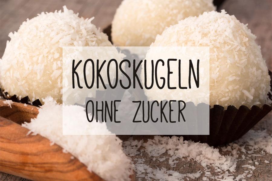 Kokoskugeln ohne Zucker - Rezept