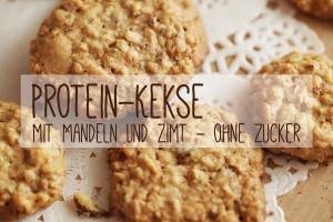Protein-Kekse ohne Zucker